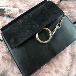 Chloe medium Faye black shoulder bag